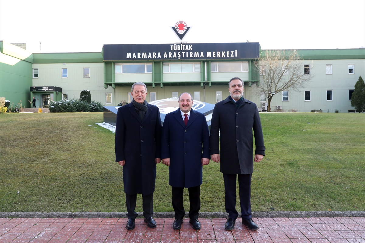 Bakanlar Akar ve Varank ile MİT Başkanı Fidan TÜBİTAK'ı ziyaret etti