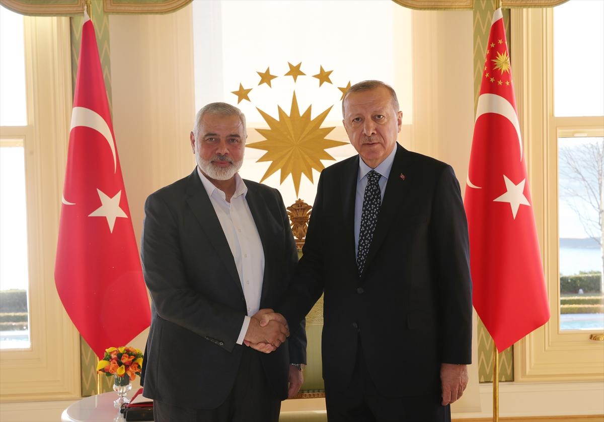 Cumhurbaşkanı Erdoğan'ın, Hamas Lideri Heniyye'yi kabulü başladı
