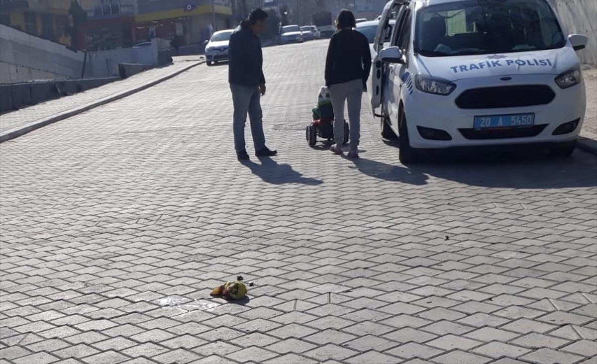 Denizli'de motosikletin devrildiği kazada polis memuru hayatını kaybetti