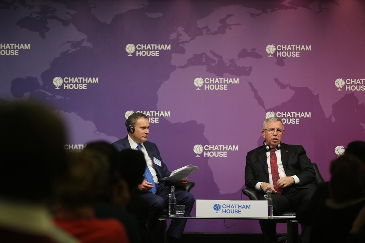 Mansur Yavaş Chatham House'da konuştu: