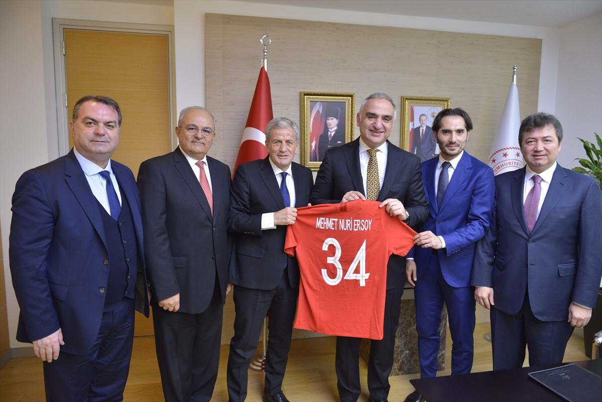 TFF heyetinden Kültür ve Turizm Bakanı Mehmet Nuri Ersoy'a ziyaret