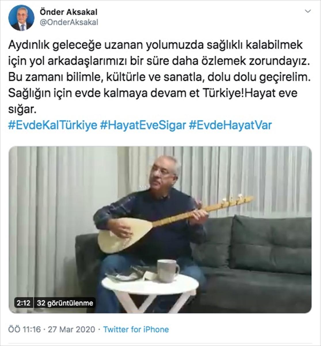 """Aksakal'dan, """"Evde kal Türkiye"""" çağrısı"""