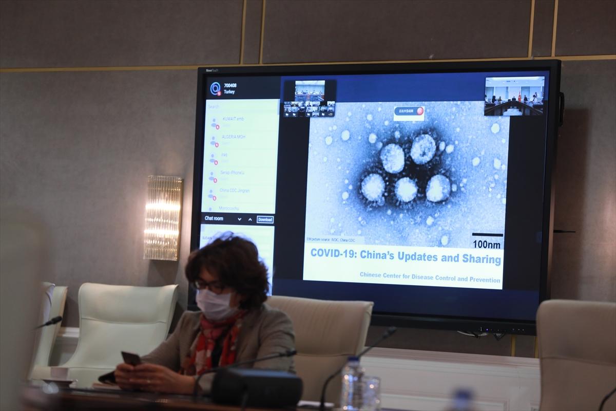 Bilim Kurulu üyeleri, Çinli bilim insanlarıyla video konferansla görüştü
