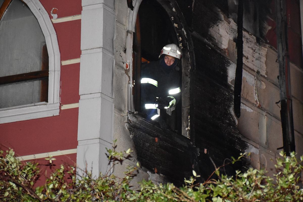 Kırıkkale'de villada çıkan yangın hasara neden oldu