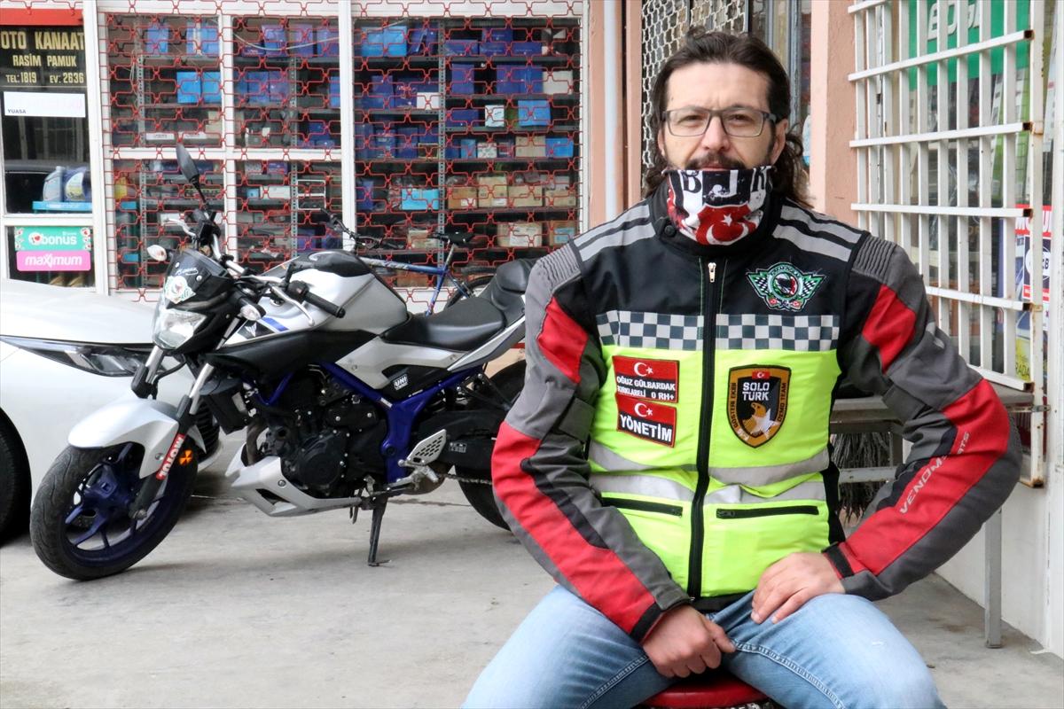 """Motosiklet tutkunlarından yaşlı ve hastalara """"hızlı ilaç servisi"""""""