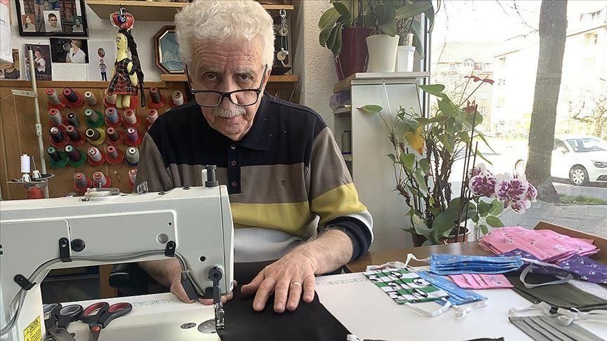 Almanya'da vatandaşın maske eksikliğini Türk terziler gideriyor