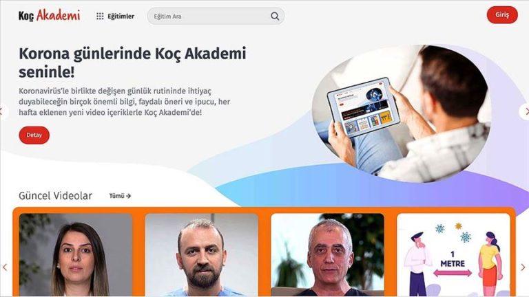 Koç Holding online eğitim platformunu ücretsiz erişime açtı