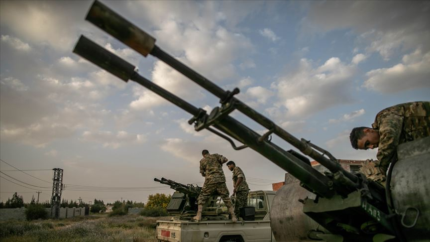 Libya'nın Sirte kentine düzenlenen hava saldırısında 20 Hafter milisi öldürüldü