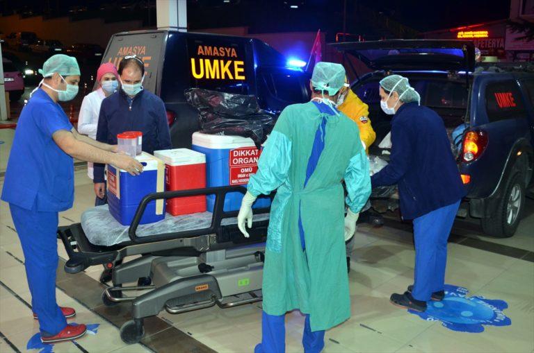 Amasya'da beyin ölümü gerçekleşen kişinin organları hastalara umut oldu