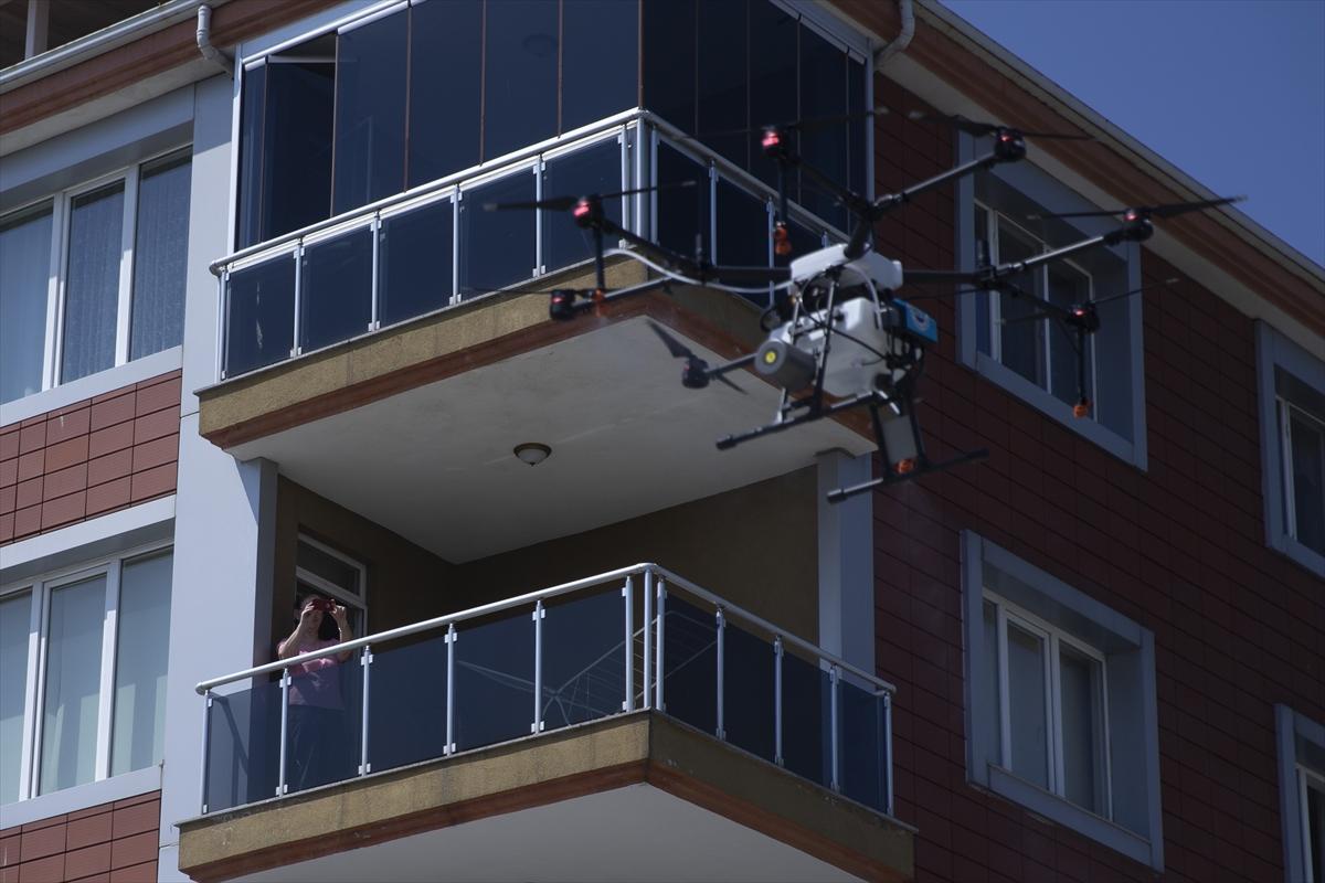 Edirne dronla havadan da dezenfekte ediliyor