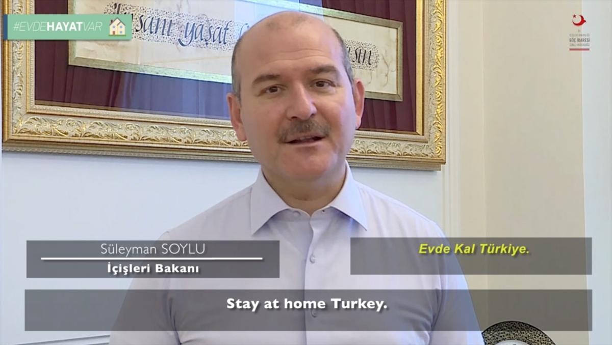 """İçişleri Bakanı Soylu'dan videolu """"evde kal"""" çağrısı:"""