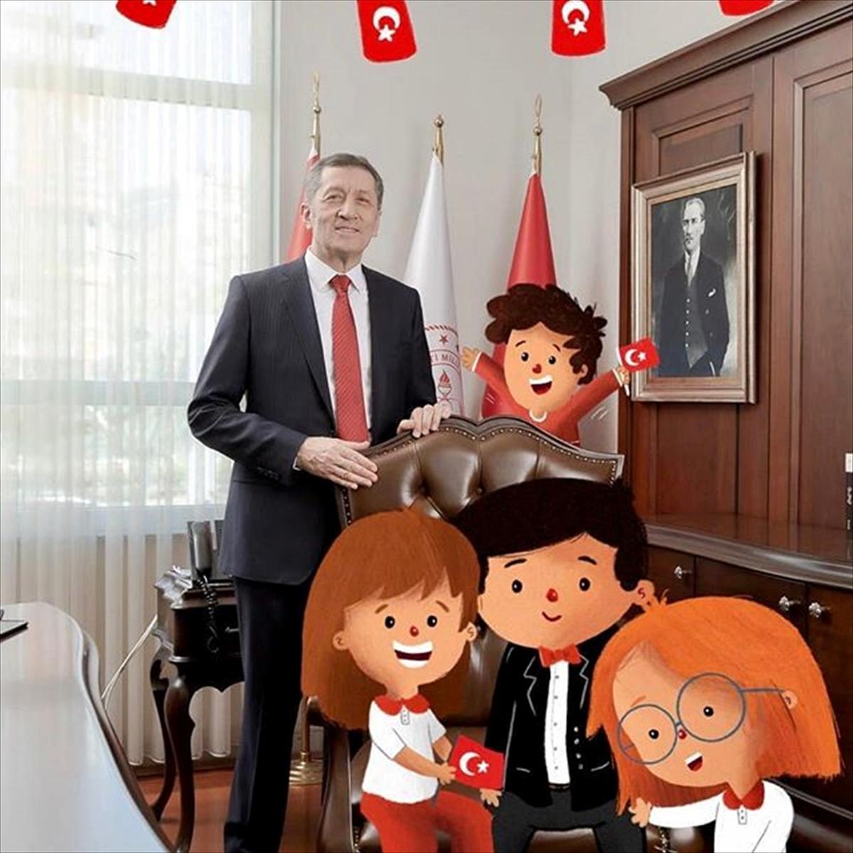 Milli Eğitim Bakanı Selçuk, 23 Nisan için sosyal medya hesaplarını çocuklara devretti