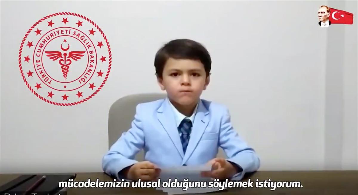 Sağlık Bakanı Koca'dan 23 Nisan'a özel çocuk üyelerden oluşan Bilim Kurulu videosu