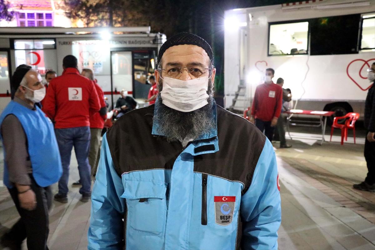 Elazığ'da Beşir Derneği'nden kan bağışı kampanyasına destek