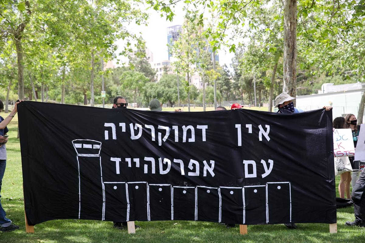 """İsrailli aktivistlerden """"ilhak"""" karşıtı gösteri"""