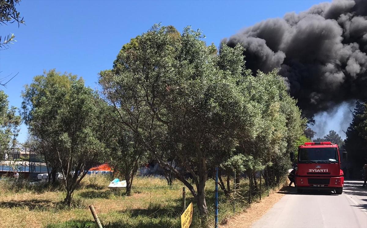 Muğla'da su sporları merkezinde çıkan yangın söndürüldü