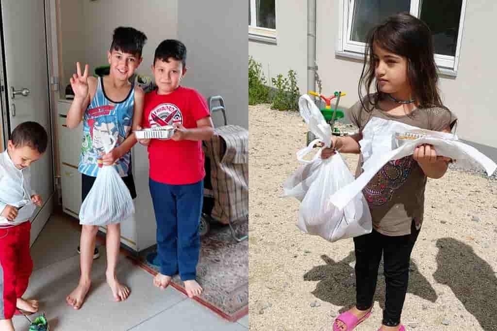 DİTİB Nuri Osmaniye Camii'nden mültecilere bayram ikramı