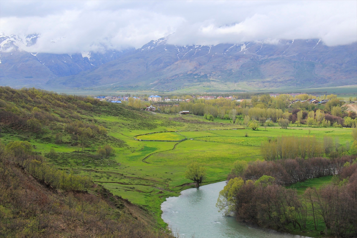 Ovacık'ta baharla canlanan doğa göz kamaştırıyor