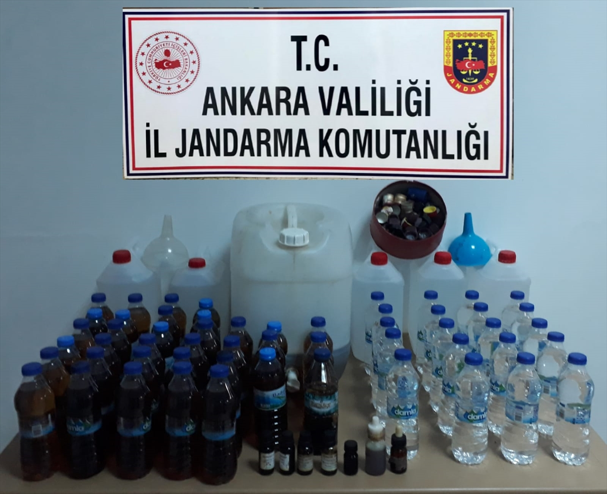 Başkentte kaçak içki sattığı iddia edilen şüpheli yakalandı