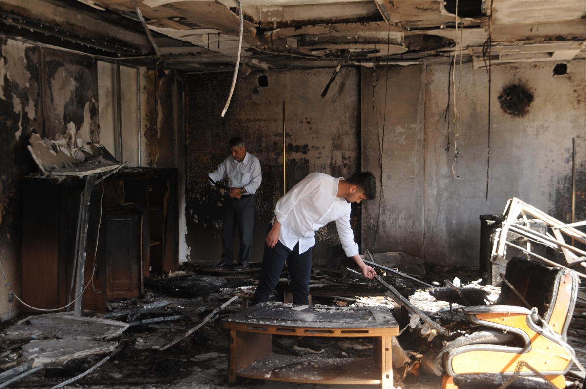 Cizre'de bir fabrika kundaklandı
