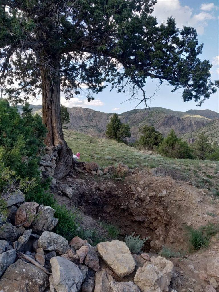 Erzurum'da bir şehide ait olduğuna inanılan mezar definecilerin hedefi oldu