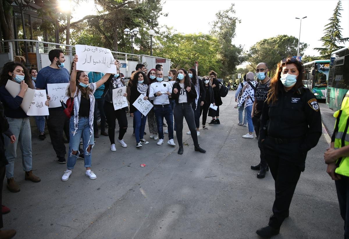 İsrail polisinin zihinsel engelli Filistinliyi şehit etmesi protesto edildi
