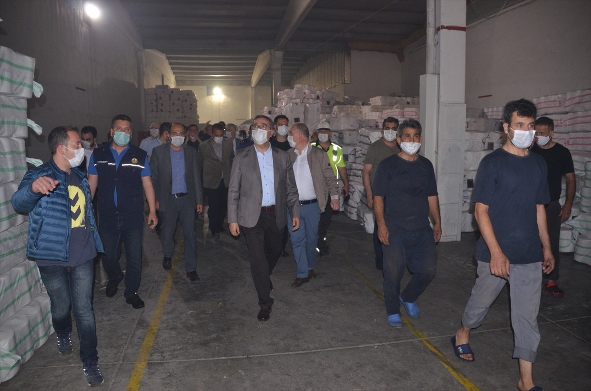 GÜNCELLEME – Kahramanmaraş'ta fabrika yangını