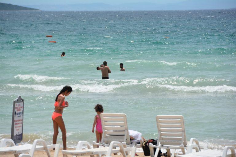 Kuşadası ve Didim sahillerinde deniz keyfi