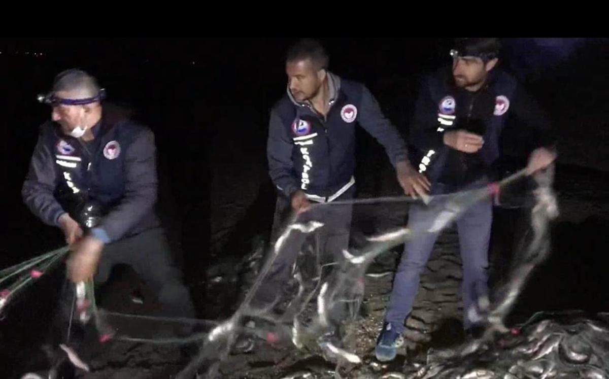 Van'da kaçak inci kefali avlayanlara 8 bin 500 lira ceza uygulandı