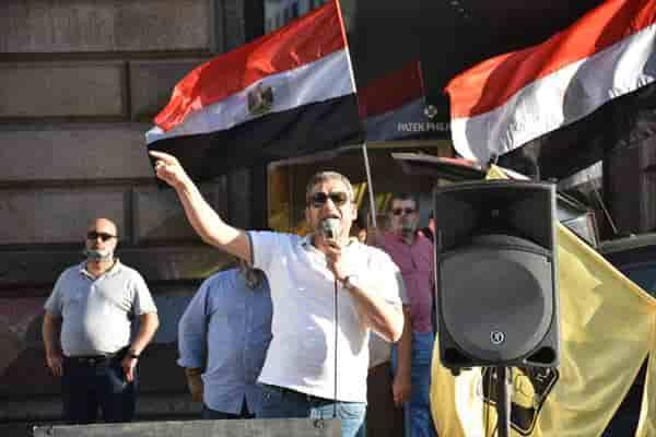 Avusturya'da Mısır Cumhurbaşkanı Sisi karşıtı gösteri