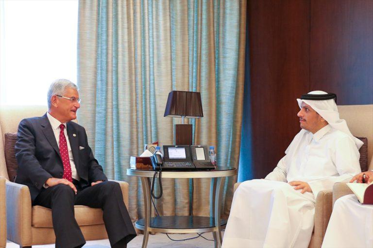 BM 75. Genel Kurul Başkanı Bozkır, Katar Emiri ile görüştü