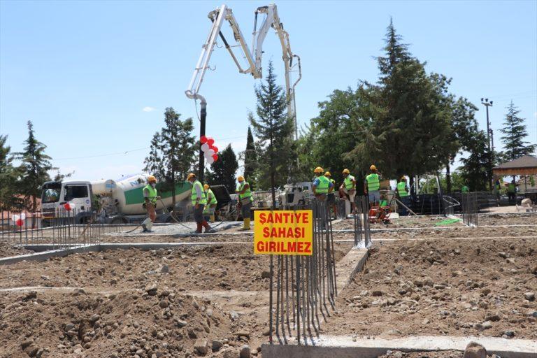 Burdur'da 8 derslikli okulun temeli atıldı