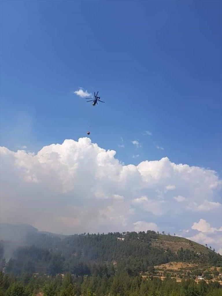 GÜNCELLEME – Denizli'de çıkan orman yangını kontrol altına alındı