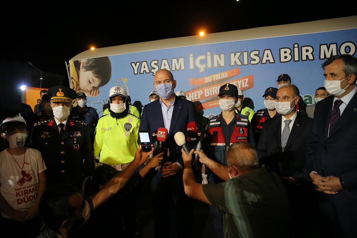 İçişleri Bakanı Soylu trafik denetimine katıldı: