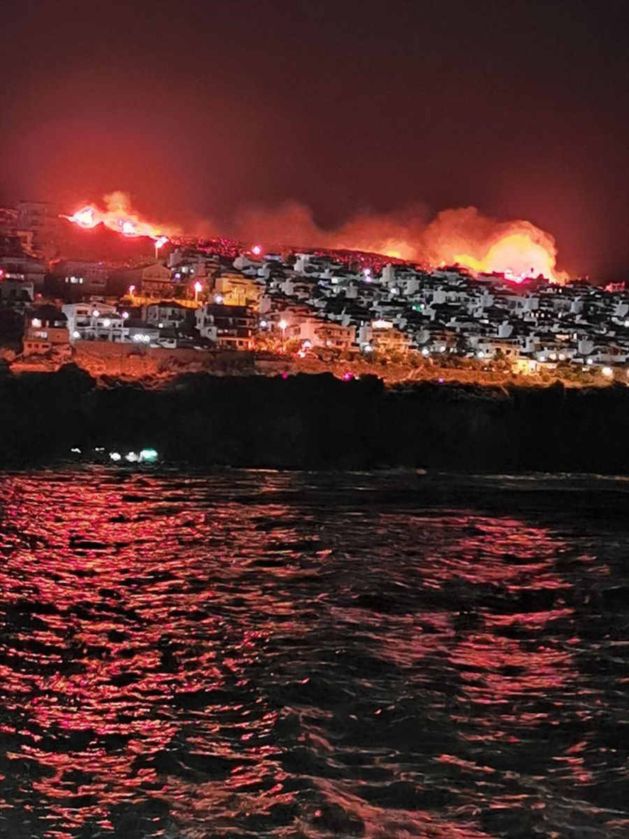 İzmir'de makilik alanda yangın çıktı