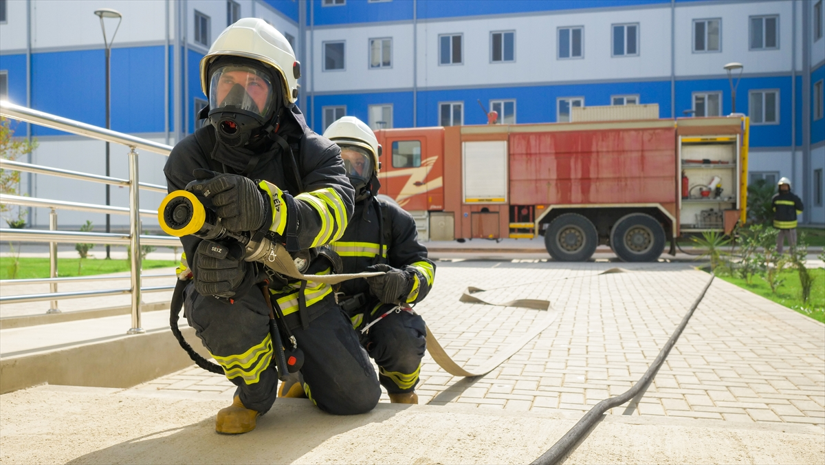 Yapımı süren Akkuyu Nükleer Güç Santrali'nde yangın tatbikatı gerçekleştirildi