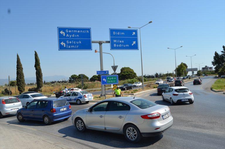 Aydın'da tatilciler dönüş yolunda yoğunluk oluşturdu