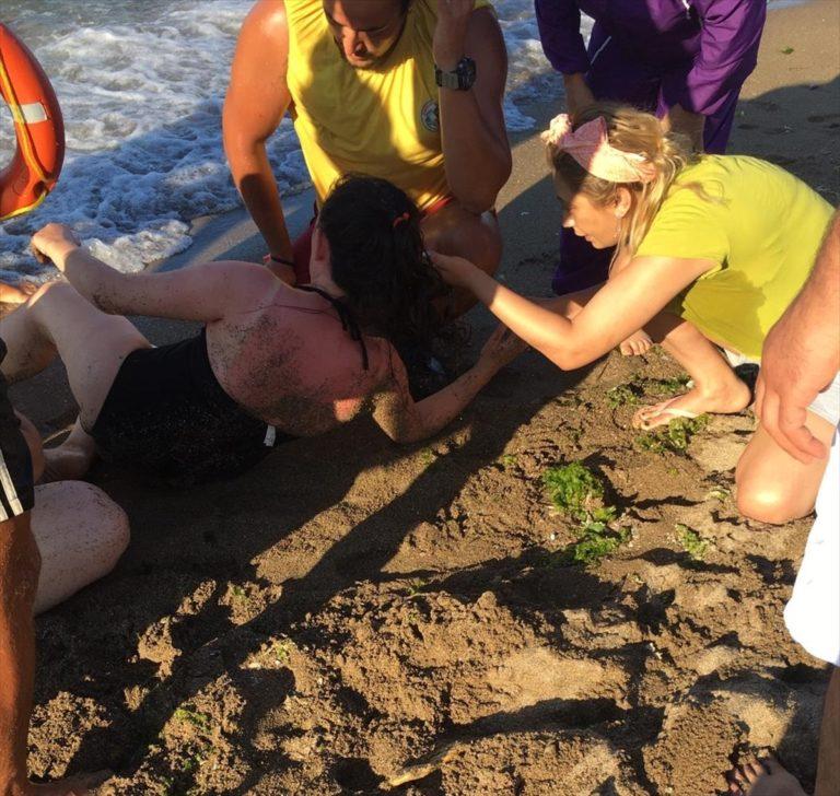 Giresun'da boğulma tehlikesi geçiren anne, oğul ve yeğeni kurtarıldı