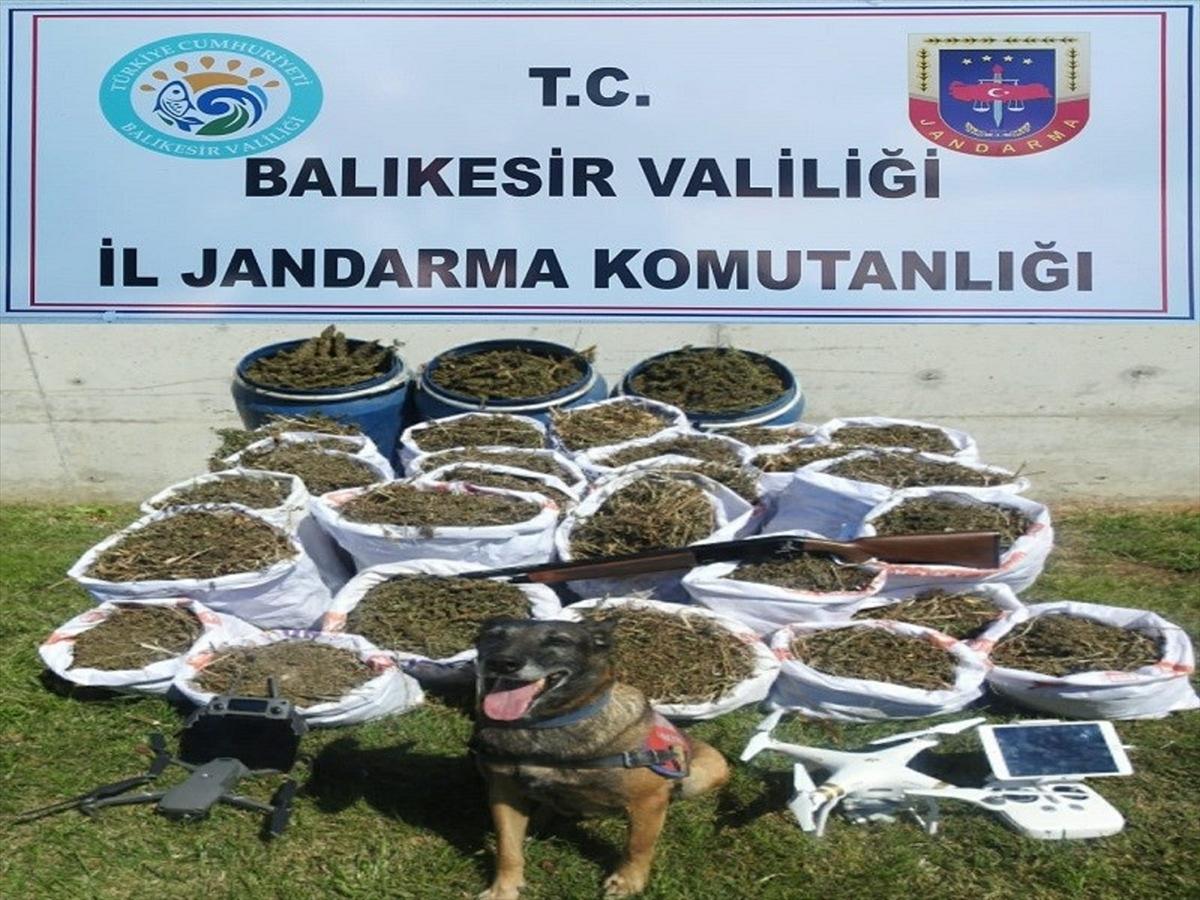 Balıkesir'de 318 kilogram esrar ele geçirildi