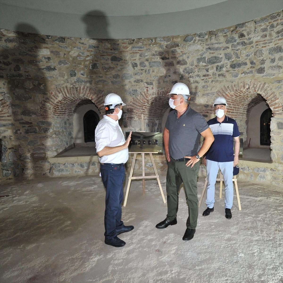 Kültür ve Turizm Bakanı Ersoy Galata Kulesi'ndeki çalışmaları denetledi