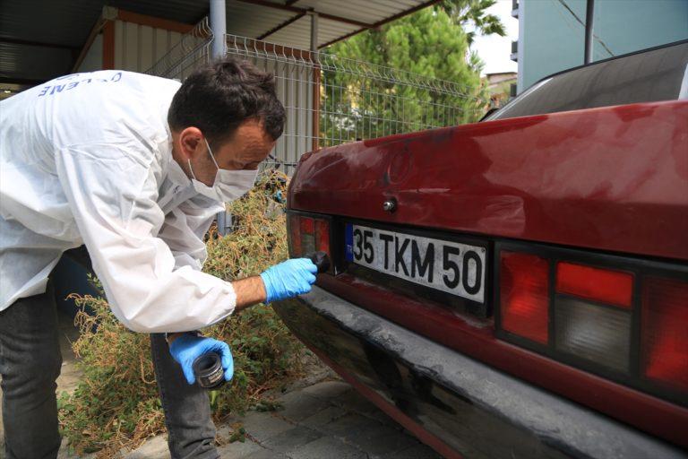 Muğla'da trafik kontrolü için durdurulan otomobilin çalıntı olduğu belirlendi