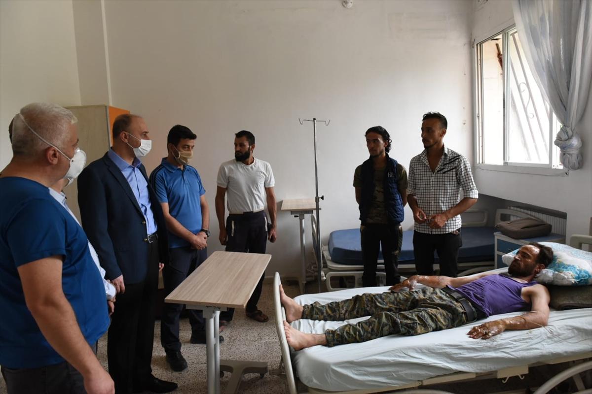 Şanlıurfa Valisi Abdullah Erin'den, Rasulayn'da terör saldırısında yaralananlara ziyaret