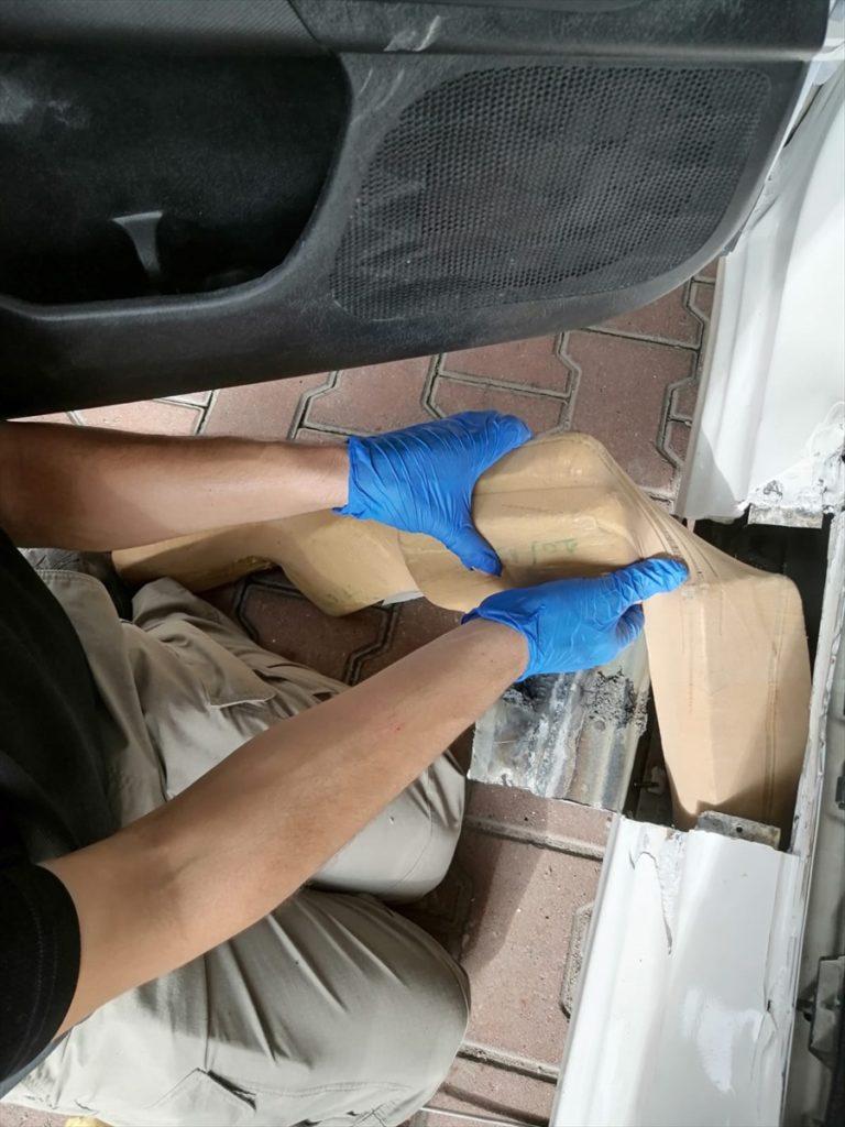 Adana'da bir otomobilde 32 kilo 850 gram eroin ele geçirildi
