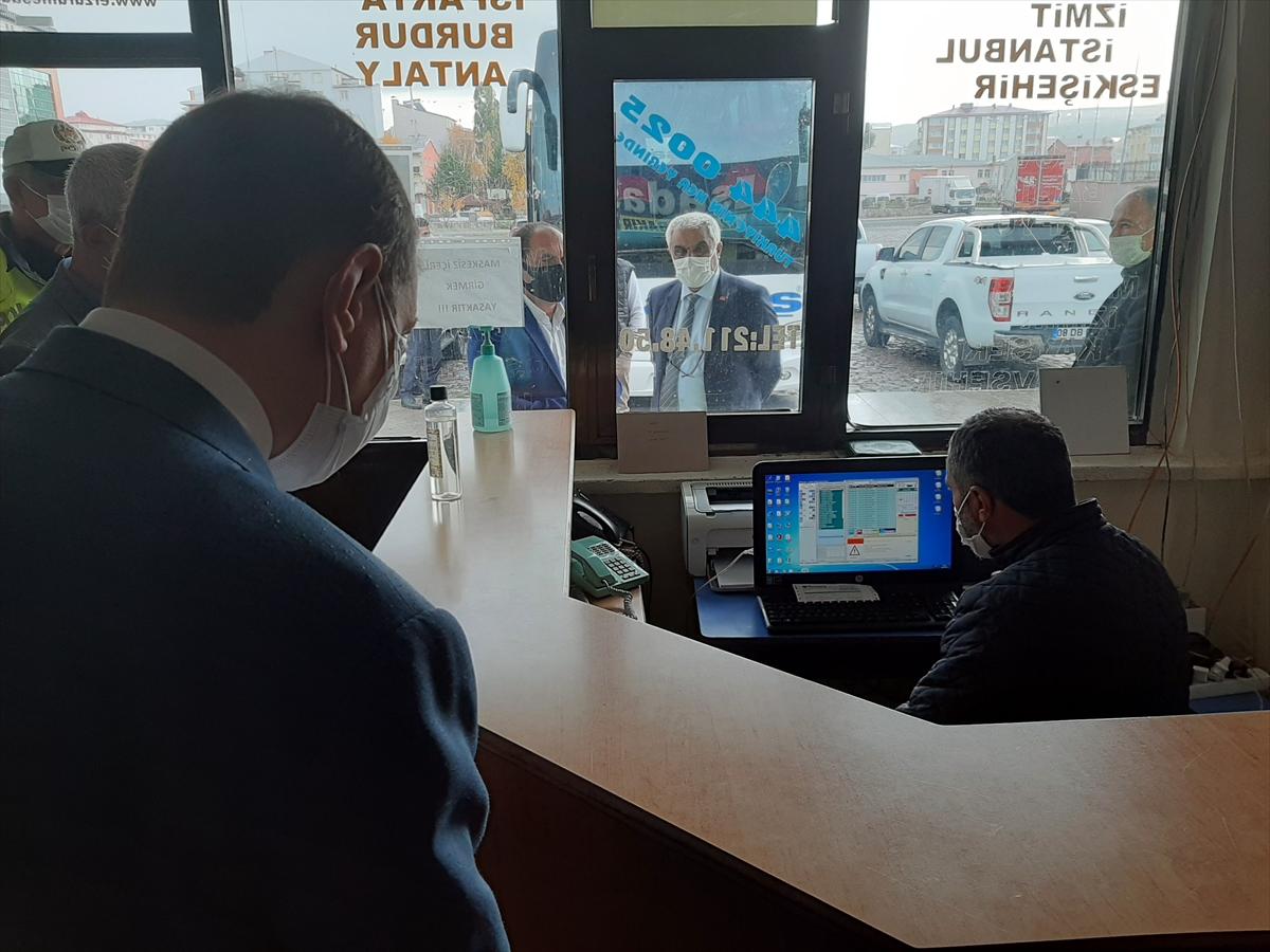 Doğu Anadolu'daki 4 ilde Kovid-19 önlemleri kapsamında toplu taşıma araçları denetlendi