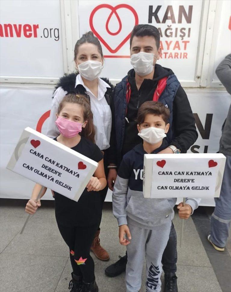 Balıkesir'de 9 yaşındaki lösemi hastası Deren için başlatılan kampanyaya yoğun ilgi