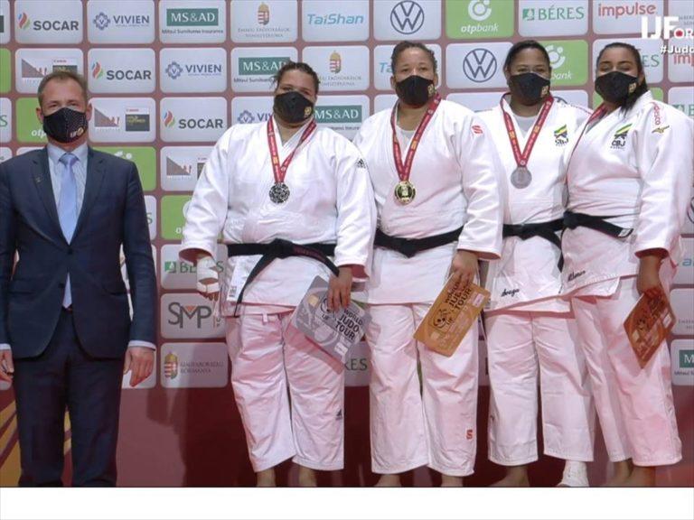 Budapeşte Grand Slam'da milli judocu Kayra Sayit'ten altın madalya
