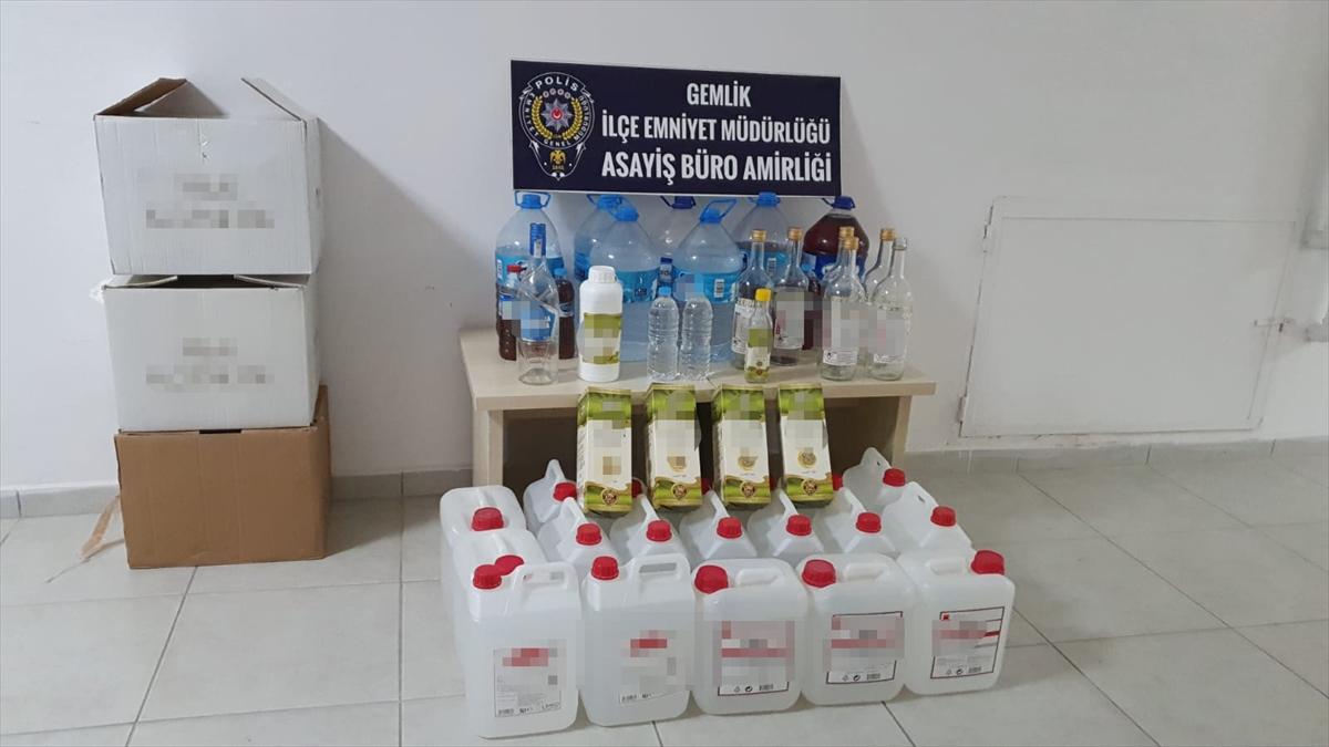 Bursa'da 160 litre sahte içki ele geçirildi
