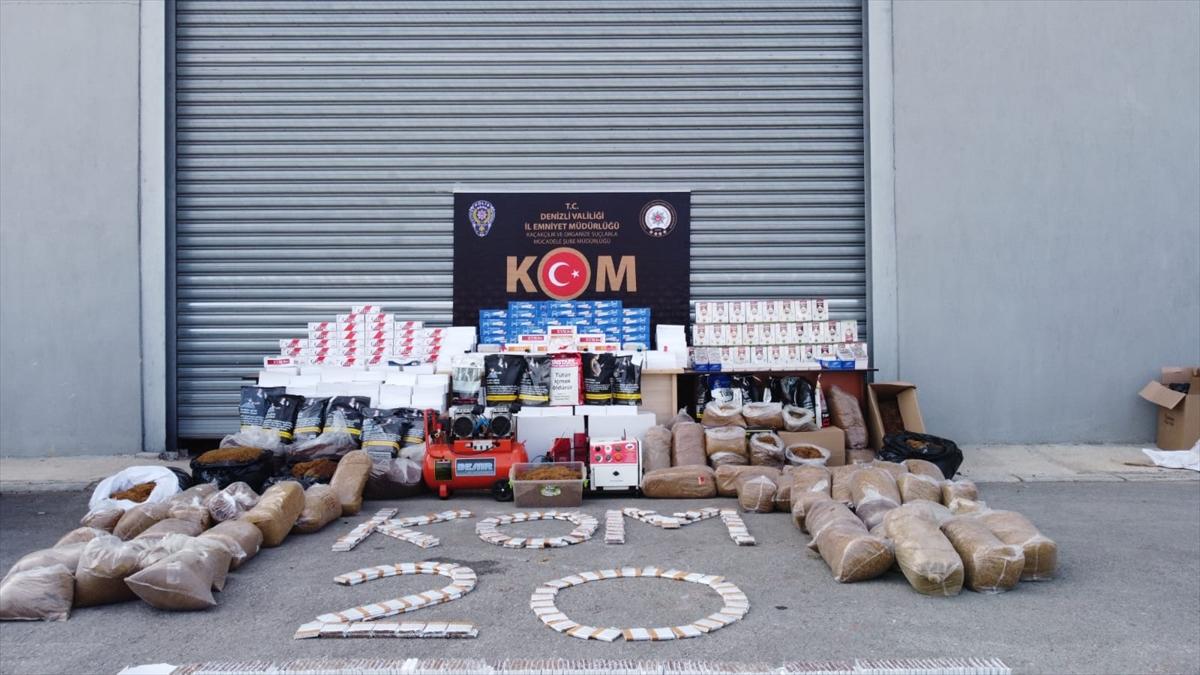 Denizli'de sigara kaçakçılığı operasyonunda yakalanan iki şüpheli tutuklandı