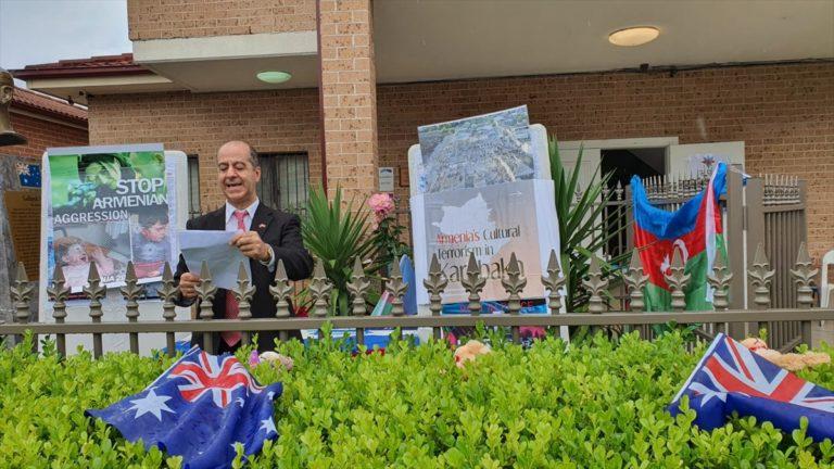 Ermenistan'ın saldırılarında ölen siviller Avustralya'da anıldı