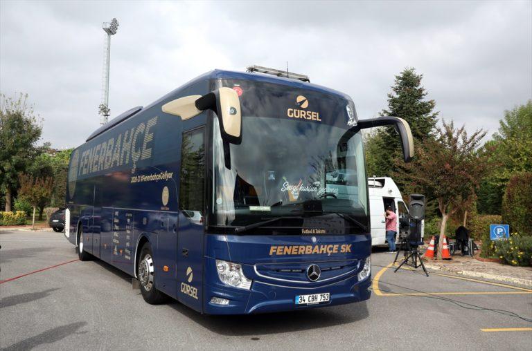 Fenerbahçe'de taraftarın tasarladığı otobüsün tanıtımı yapıldı